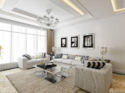 現代風格顏色搭配新房客廳背景墻裝飾圖