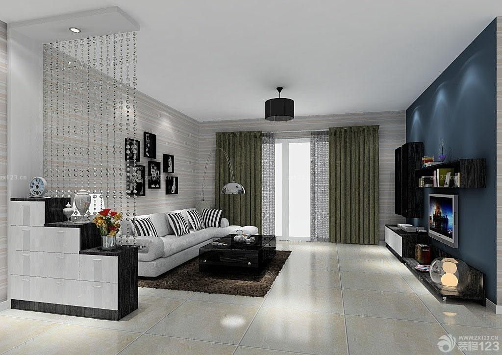 80后新房正方形客厅装修效果图设计