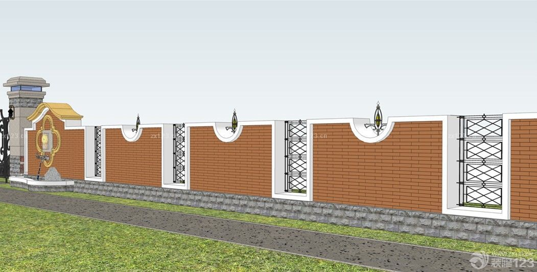 400平米别墅围墙设计图片图片