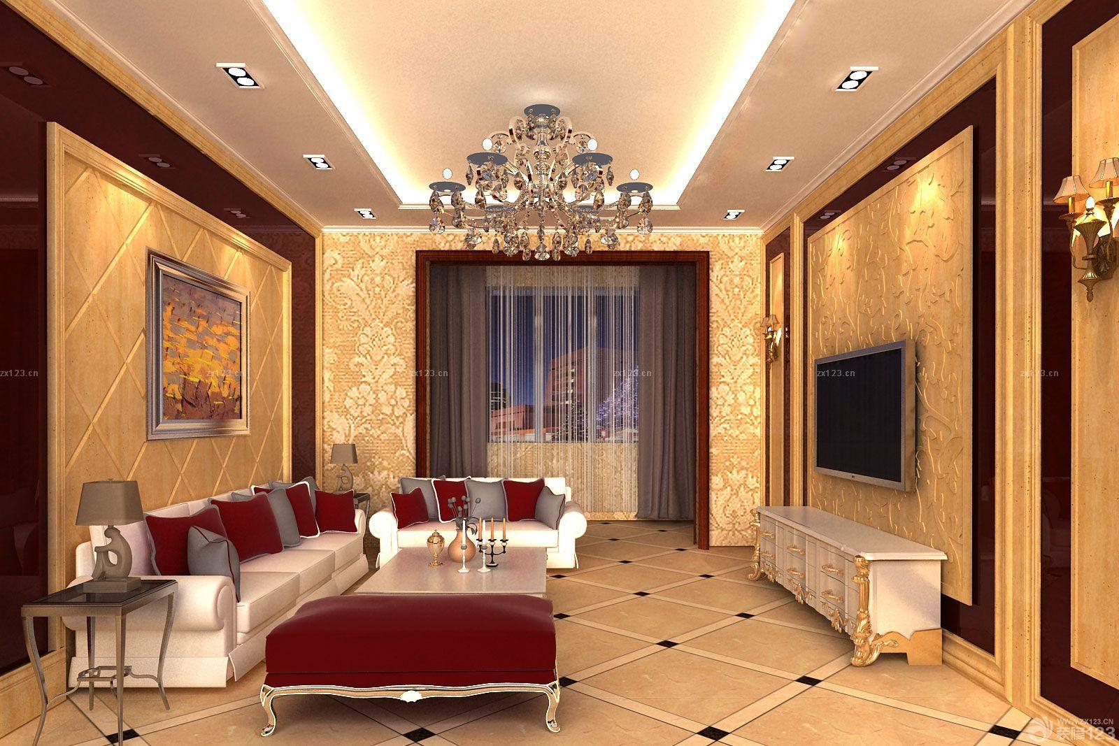 温馨家装复式楼新房中空客厅装修效果图2014图片图片