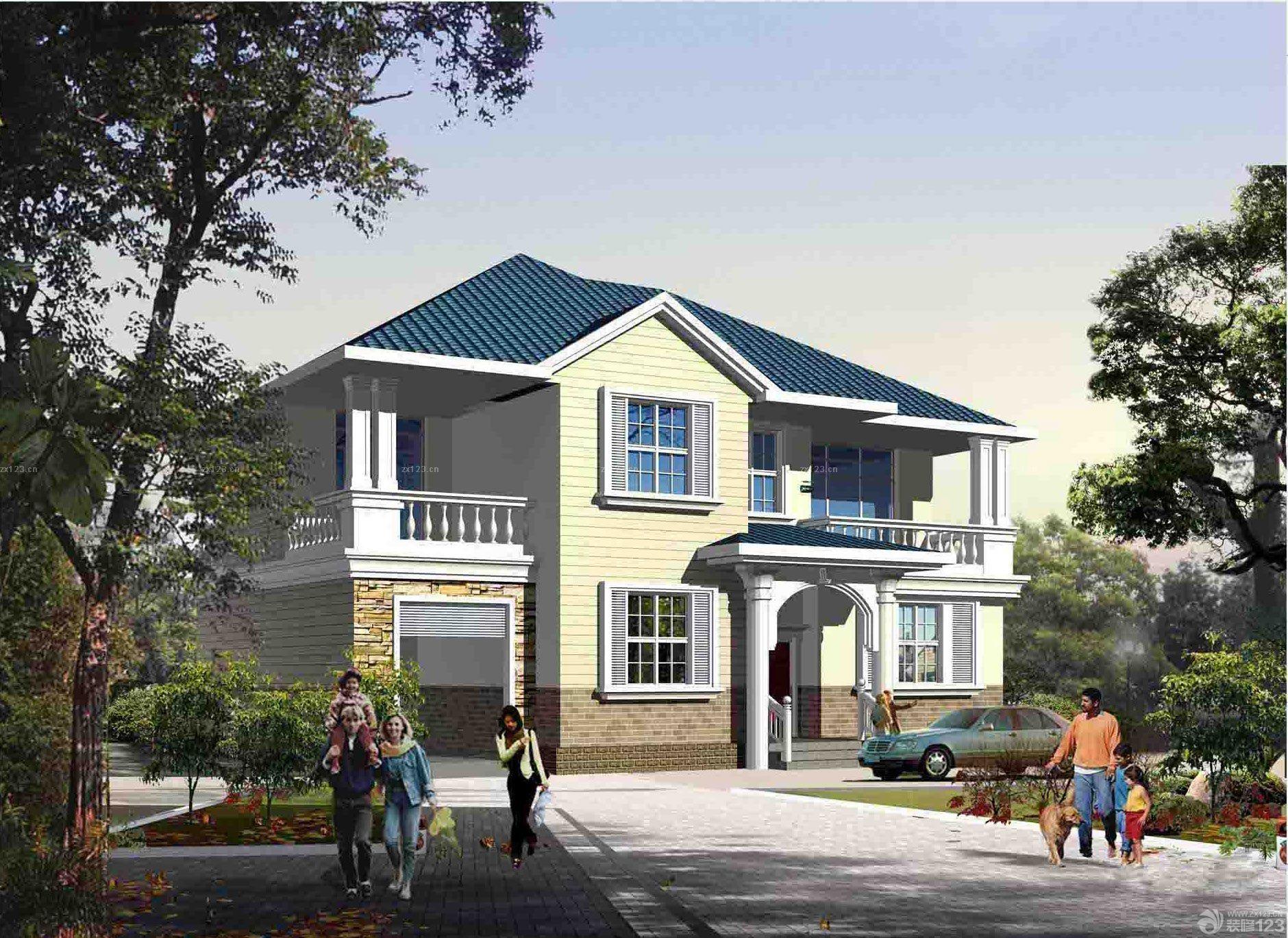 个性经济型别墅设计图 农村盖房子设计图纸