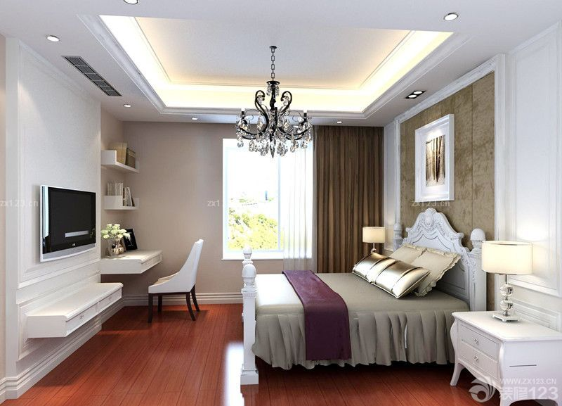 简欧12平米婚房卧室装修效果图大全2014图片