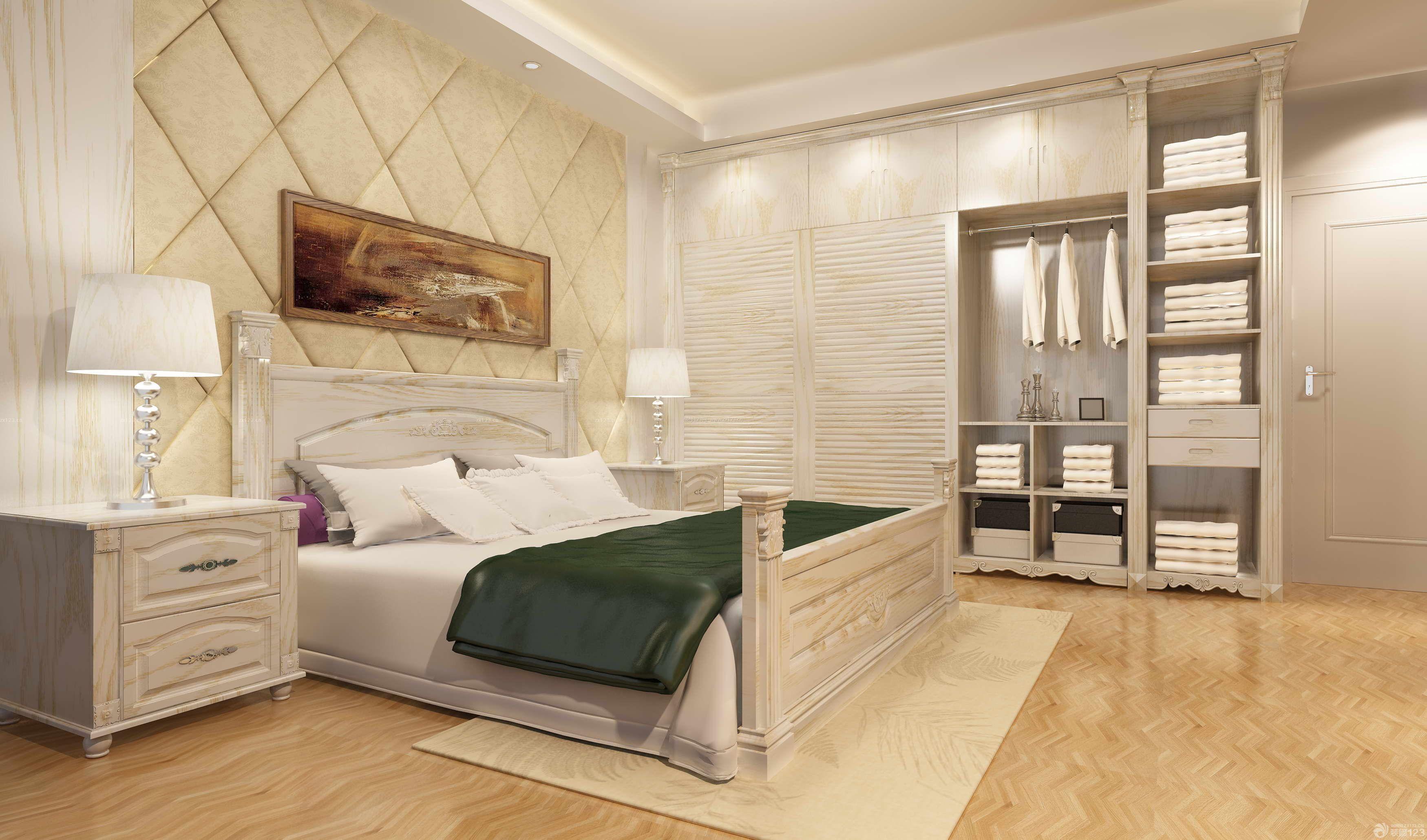 现代欧式主卧室衣柜装修效果图欣赏