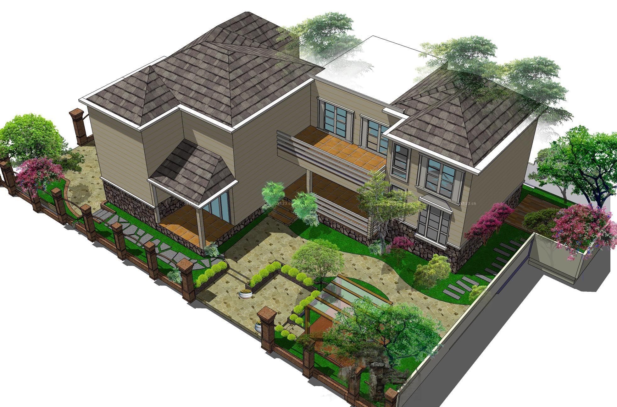 460平米欧式风格二层别墅外观设计效果图图片