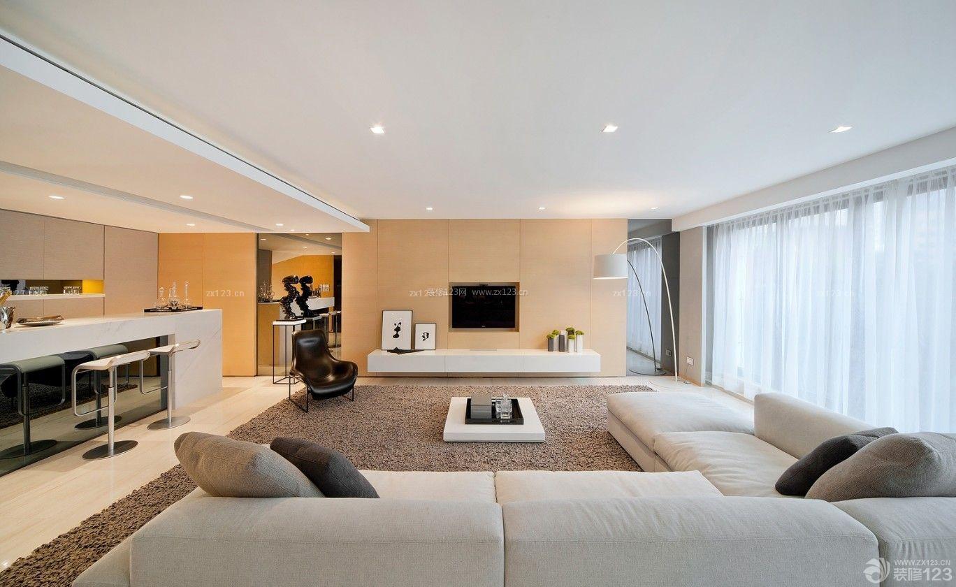 简约现代风格新房40平米客厅吊顶装修效果图设计