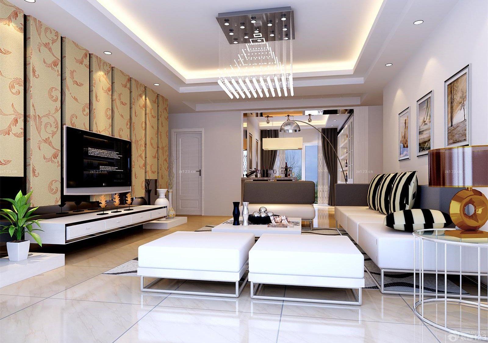 最新家装正方形客厅设计效果图