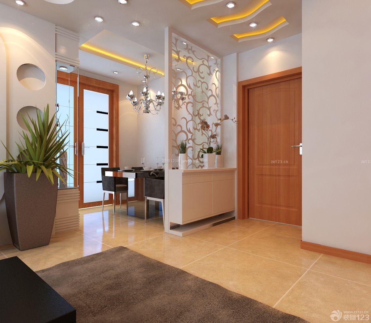 沉稳家居120平米房子室内墙纸装饰效果图_装修123效果