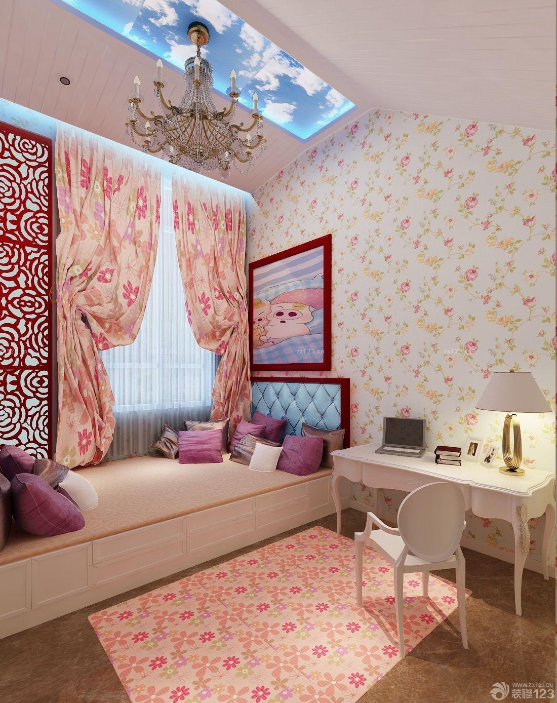 温馨家装100平米房屋室内墙纸装饰效果图