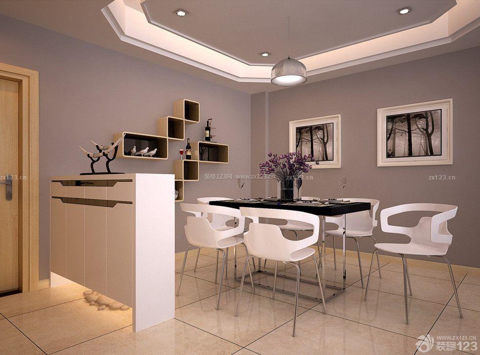 创意现代餐厅石膏天花板吊顶设计图片