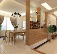地中海田园混搭餐厅过门石效果图欣赏 新古典风格客厅餐厅酒柜隔断