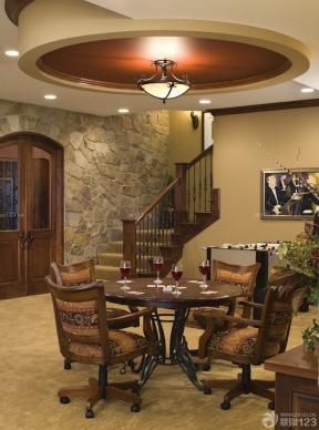 室内楼梯图片 木楼梯扶手 楼中楼楼梯 仿古砖装修效果图