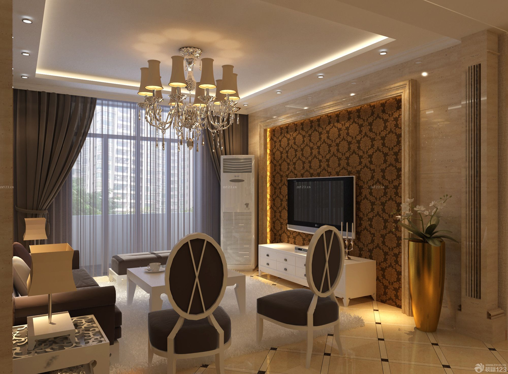 黑白搭配经典18平米跃层客厅装修效果图欣赏