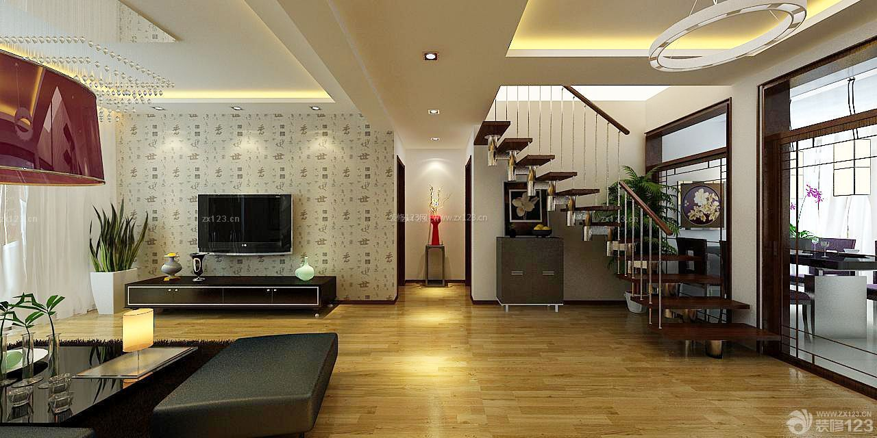 现代风格18平米跃层客厅装修效果图欣赏
