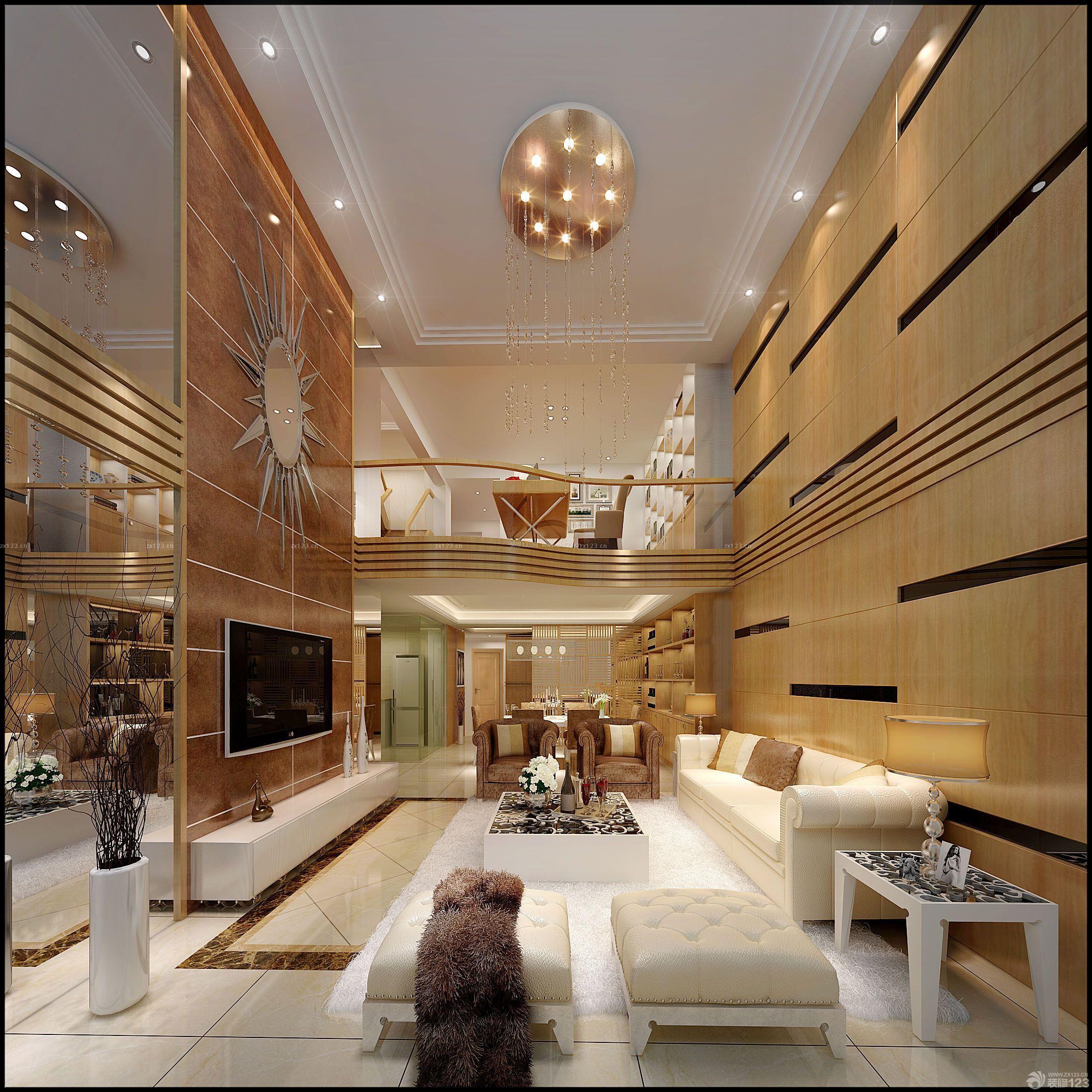 现代设计风格大客厅室内吊顶装修图大全