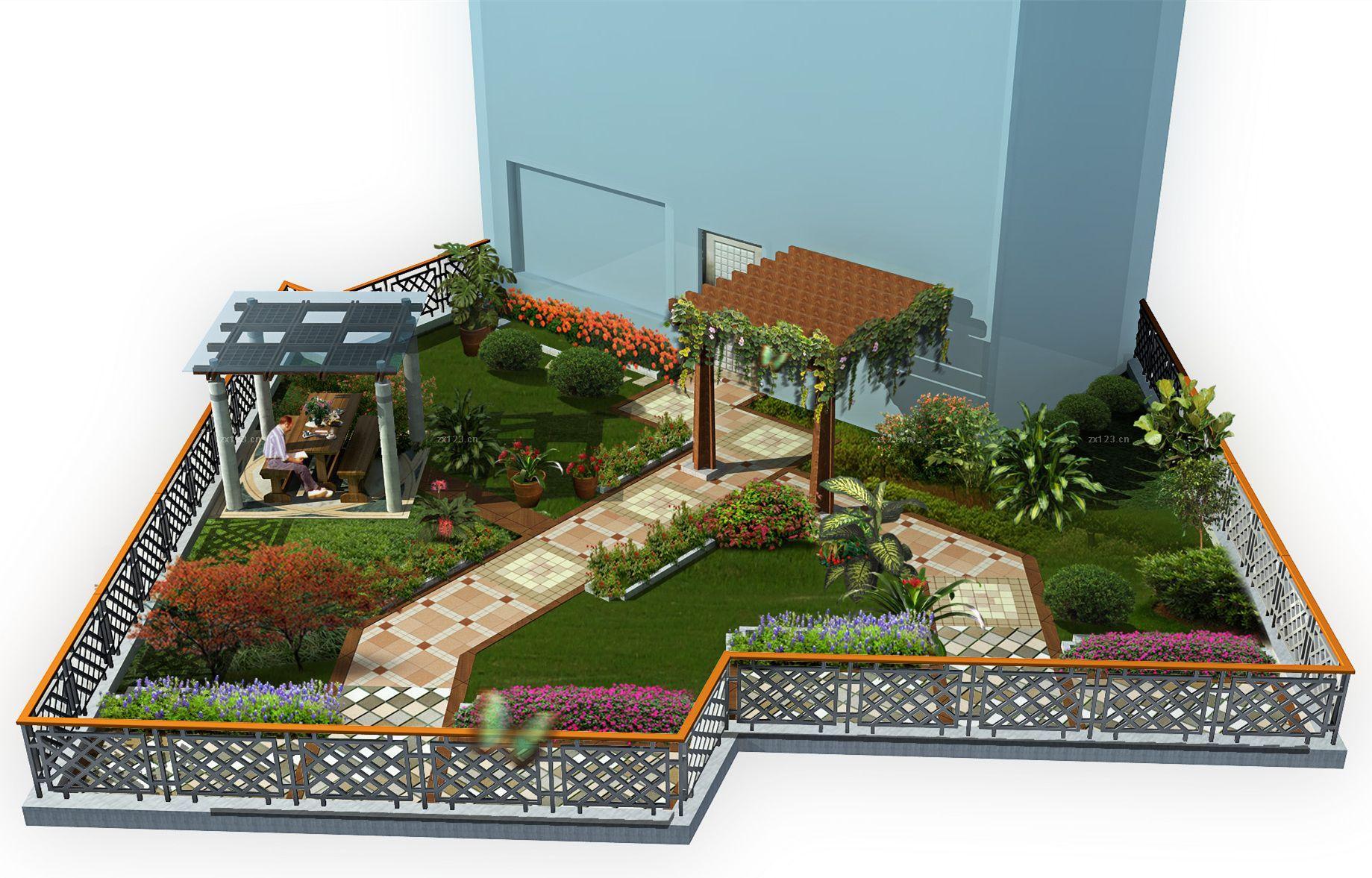 楼顶平面图_屋顶花园平面设计图-楼顶花园设计实景图 屋顶花园平面效果图 ...
