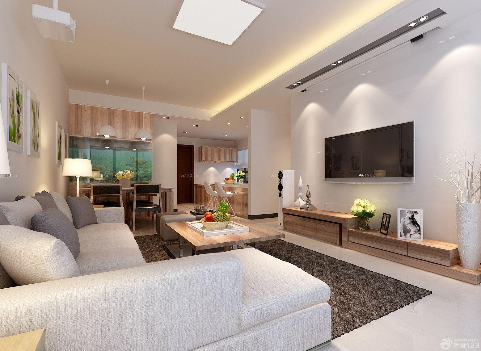 简约温馨小三室18平米客厅装修效果图设计