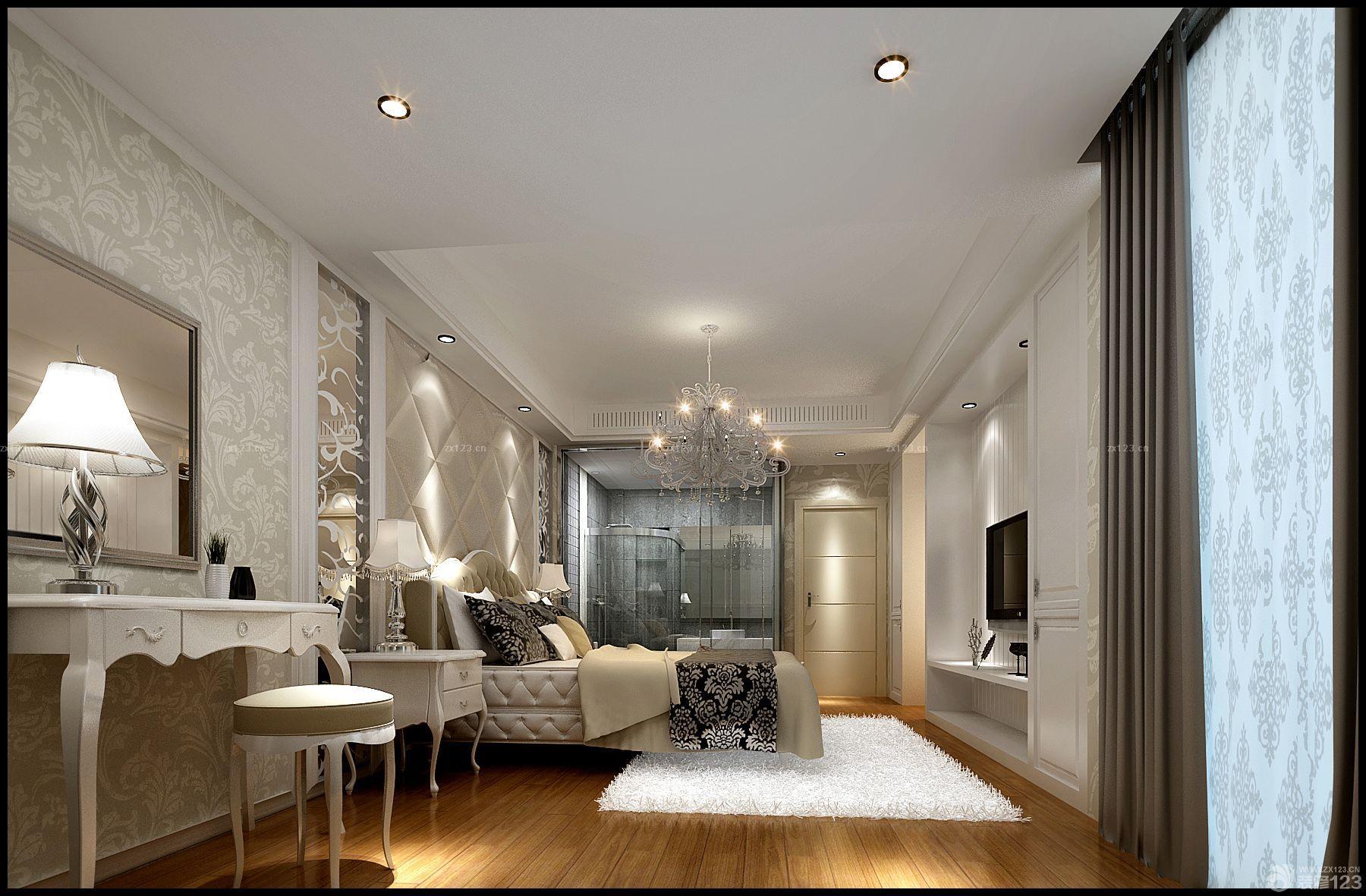 20平米卧室天花板吊顶室内简约吊灯装修图
