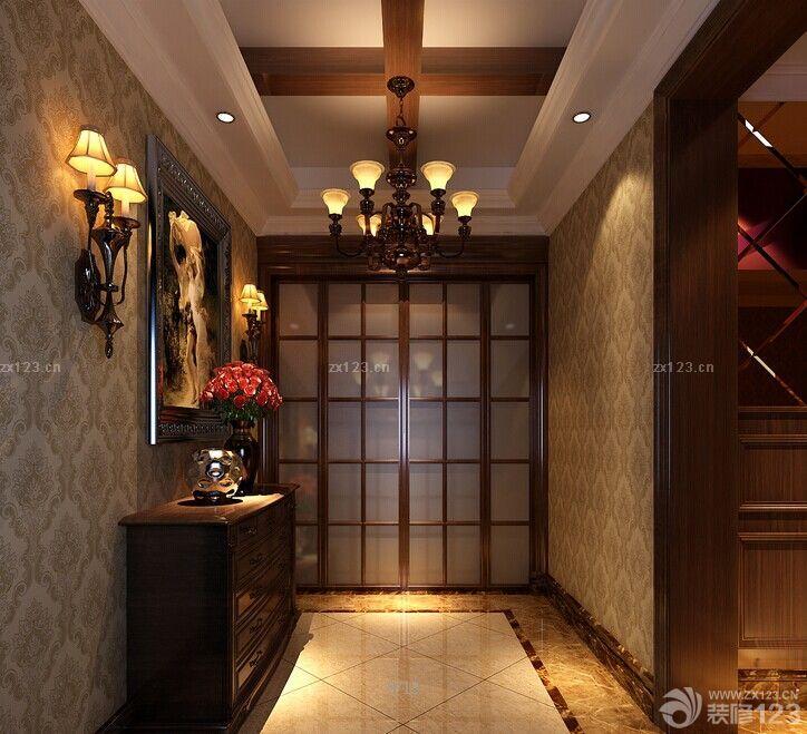 进门玄关室内大理石地砖装修效果图大全