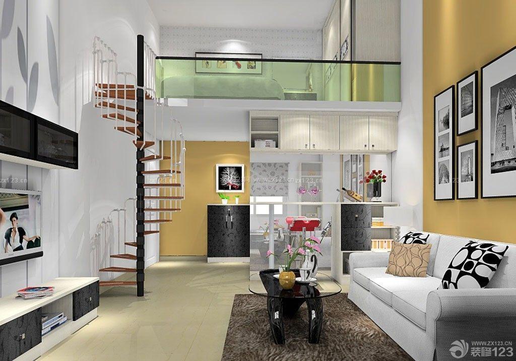 现代风格50平小复式楼单身住宅设计图片
