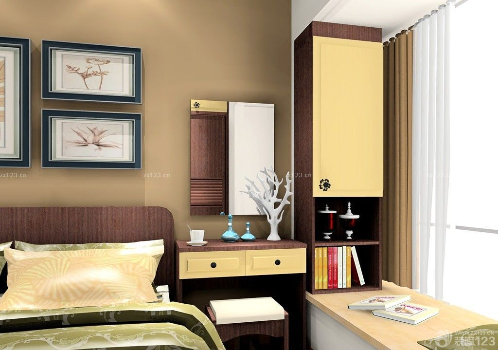 70平米小户型卧室梳妆台装饰图片