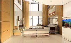 溫馨現代風格別墅中空客廳設計圖片