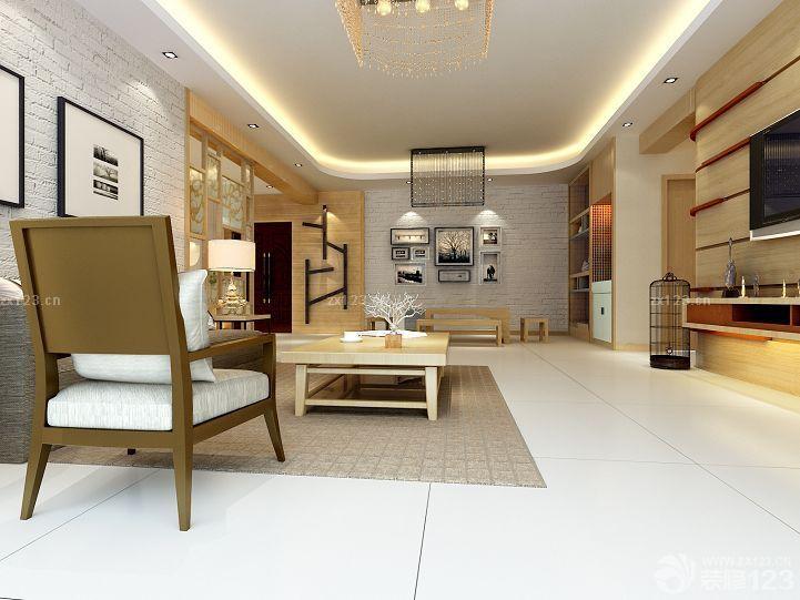 长方形客厅沙发椅装修效果图