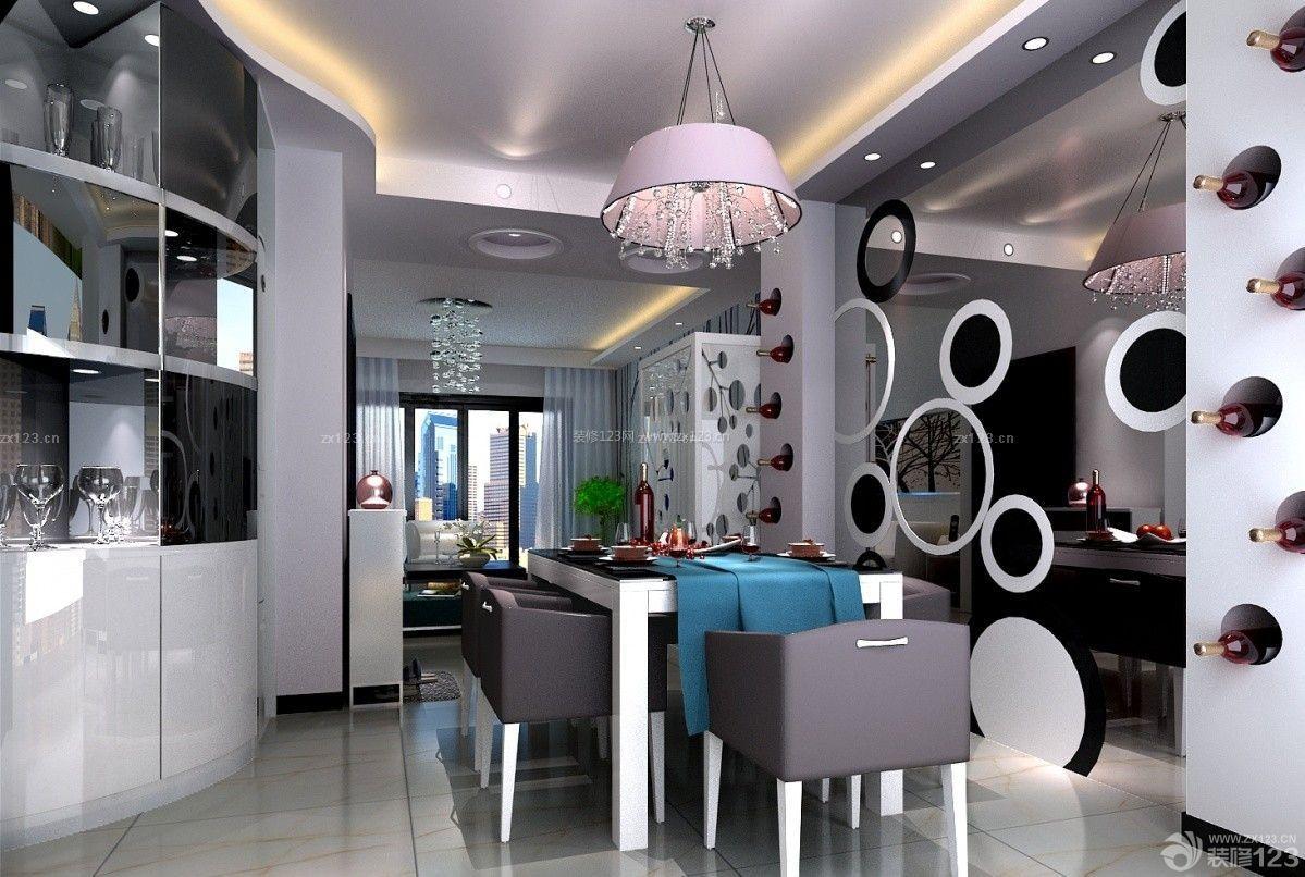 交换空间50平小户型客厅吧台隔断设计效果图_装修123