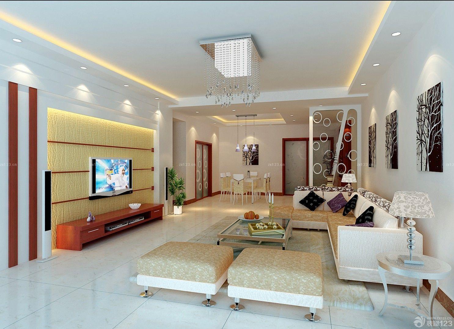 经典温馨客厅装潢设计效果图大全2014图片