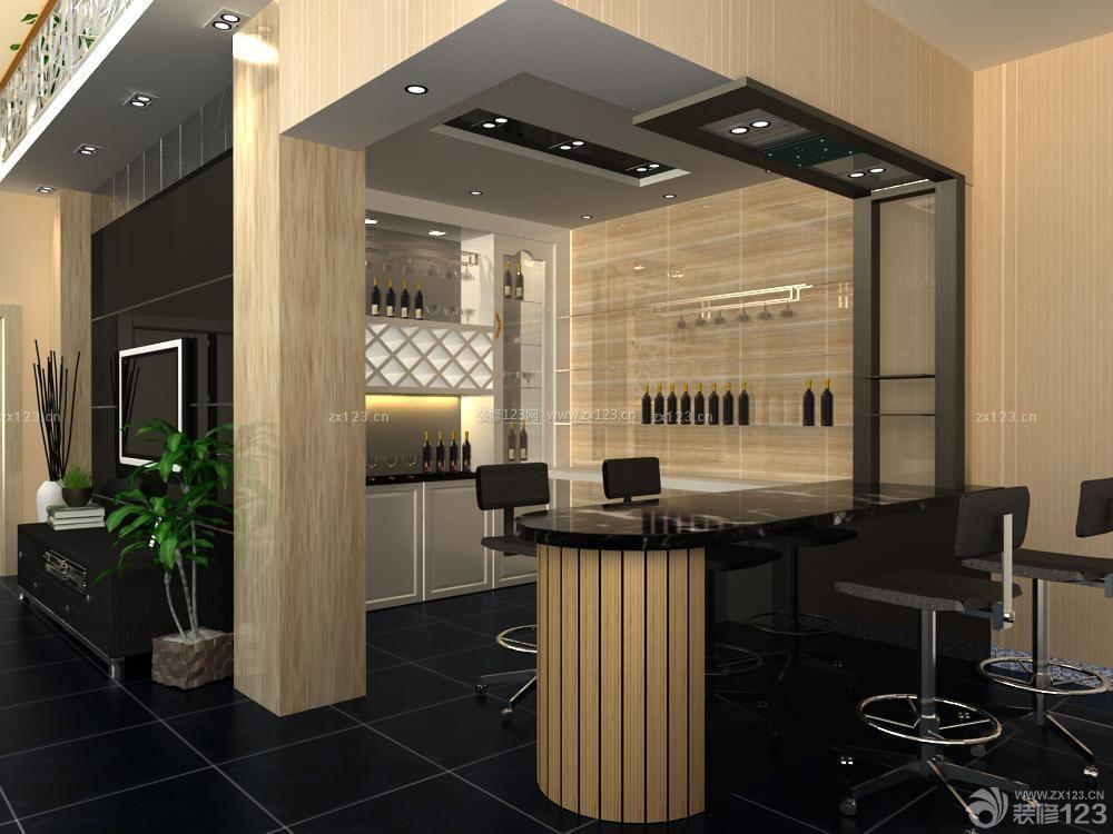 交换空间复式小户型家庭酒柜吧台装修效果图