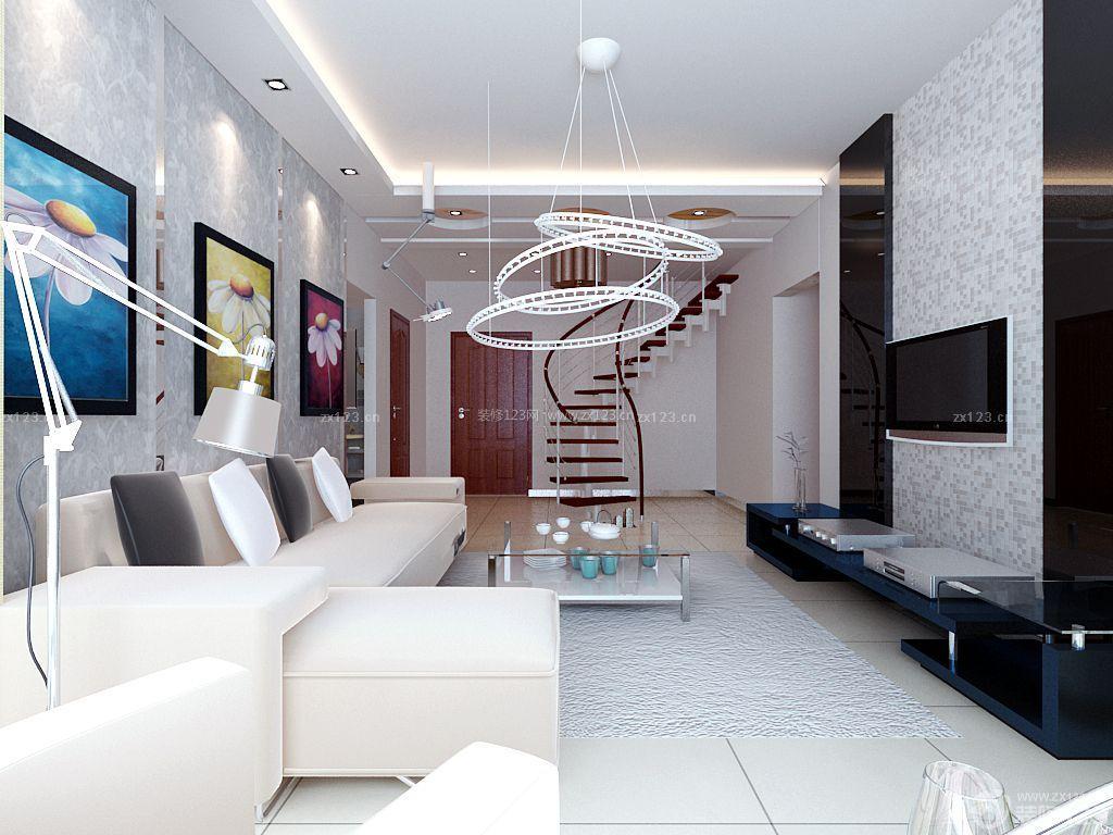 小户型楼中楼装修效果图 楼中楼吊顶效果图 客厅天花板吊顶