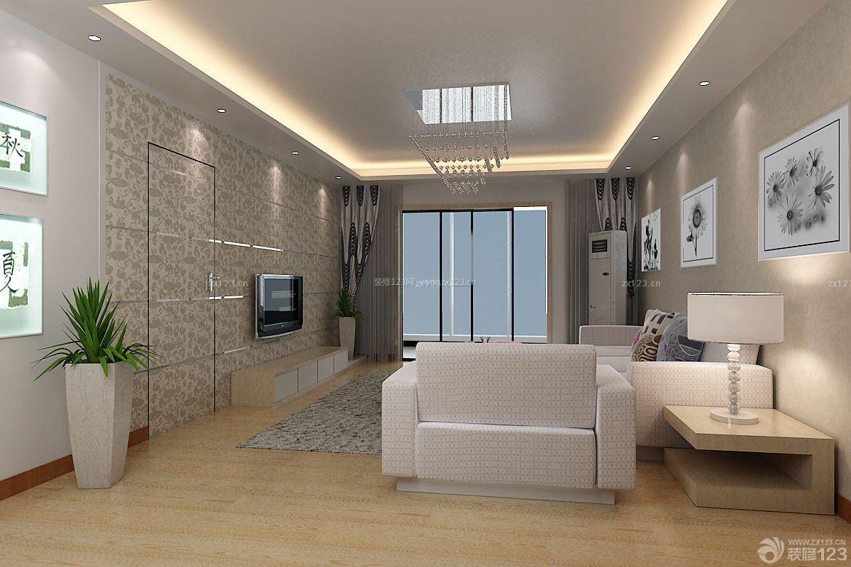 现代时尚楼中楼客厅电视背景墙设计效果图片