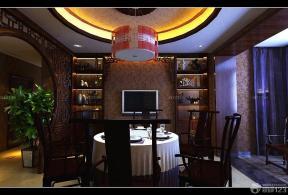 中式裝修風格 家庭餐廳 中式吊燈