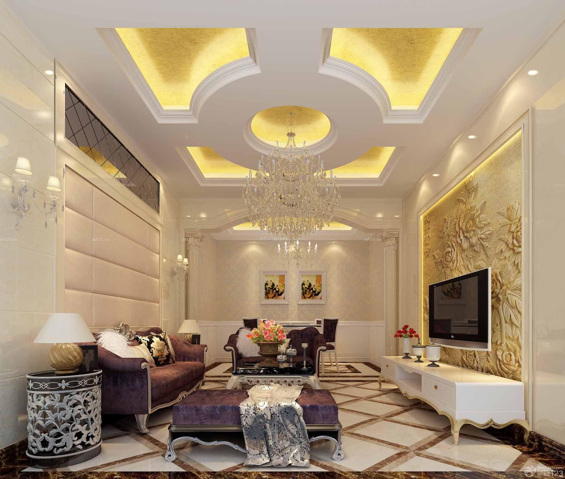 200平米房子装修 最新客厅装修效果图