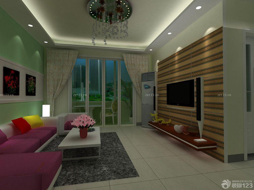 现代温馨小户型楼中楼客厅天花板效果图