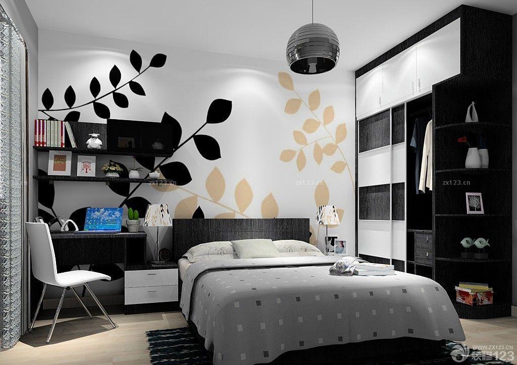 黑白搭配小房间衣柜设计图片欣赏