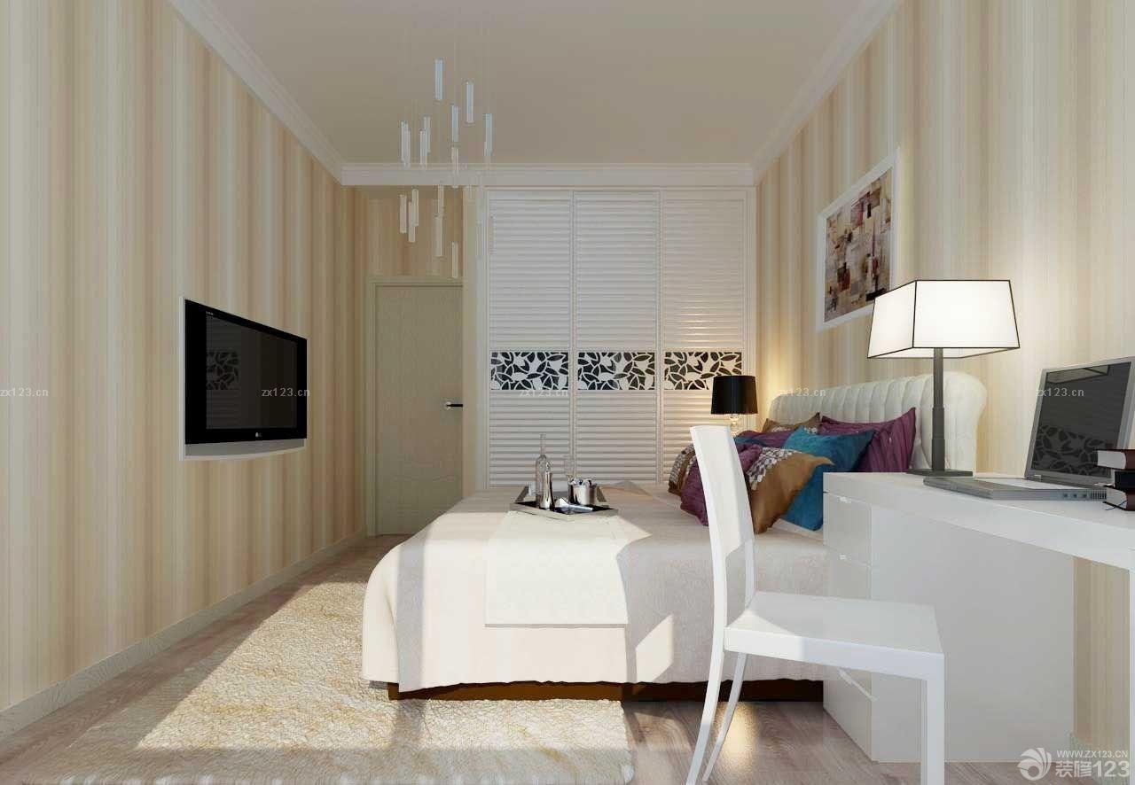 现代风格家居14平米卧室衣柜装修图片