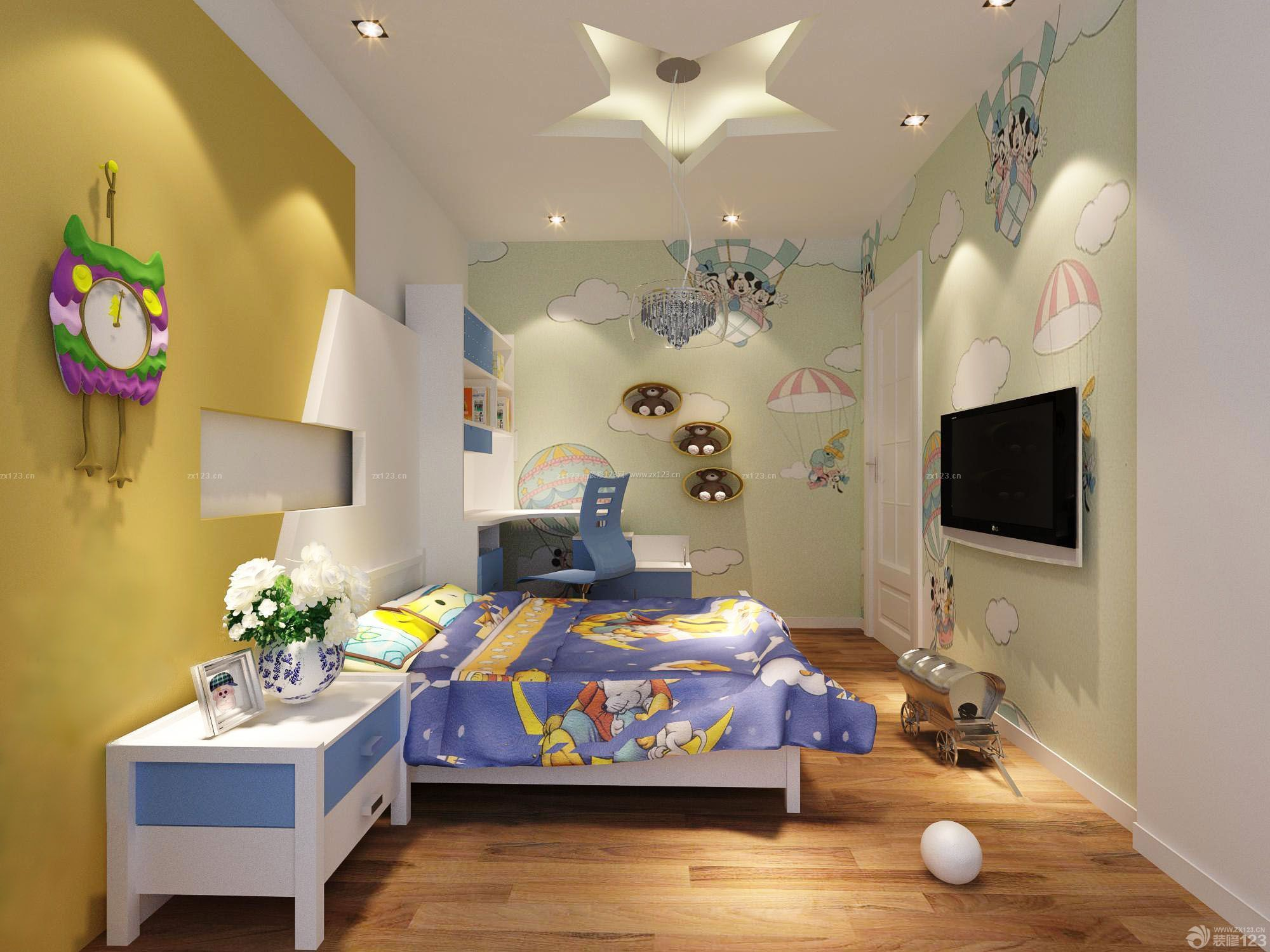 小房间悬空卧室电脑桌设计图展示