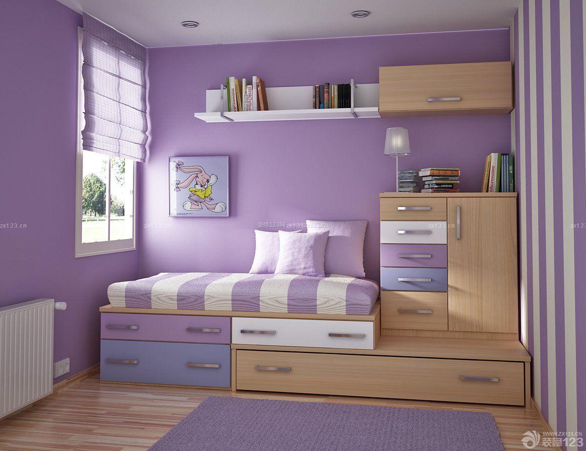 小房间装修效果图 小平米卧室装修图片