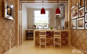 歐式家裝設計效果圖 開放式廚房 吧臺吧椅