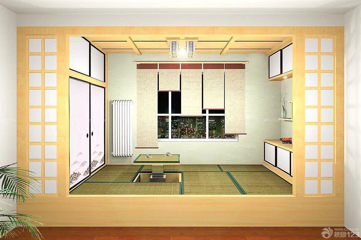 日式风格室内小房间榻榻米设计图片