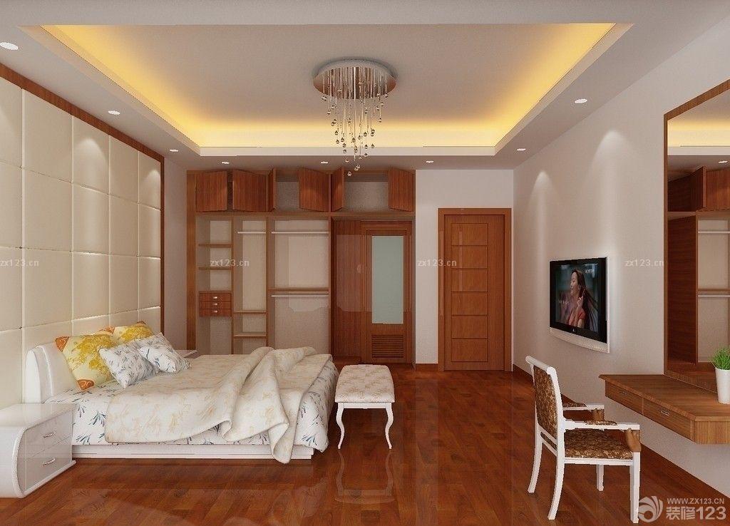 温馨时尚100平家居室内卧室仿木地板瓷砖装饰图片