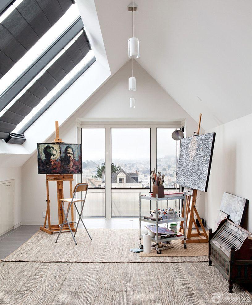 交换空间阁楼阳光房画室装修效果图设计