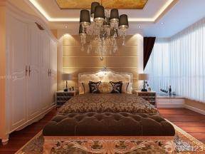 歐式室內裝潢 大臥室 吊燈