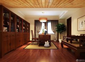 中式書柜圖片 花園洋房裝修效果圖