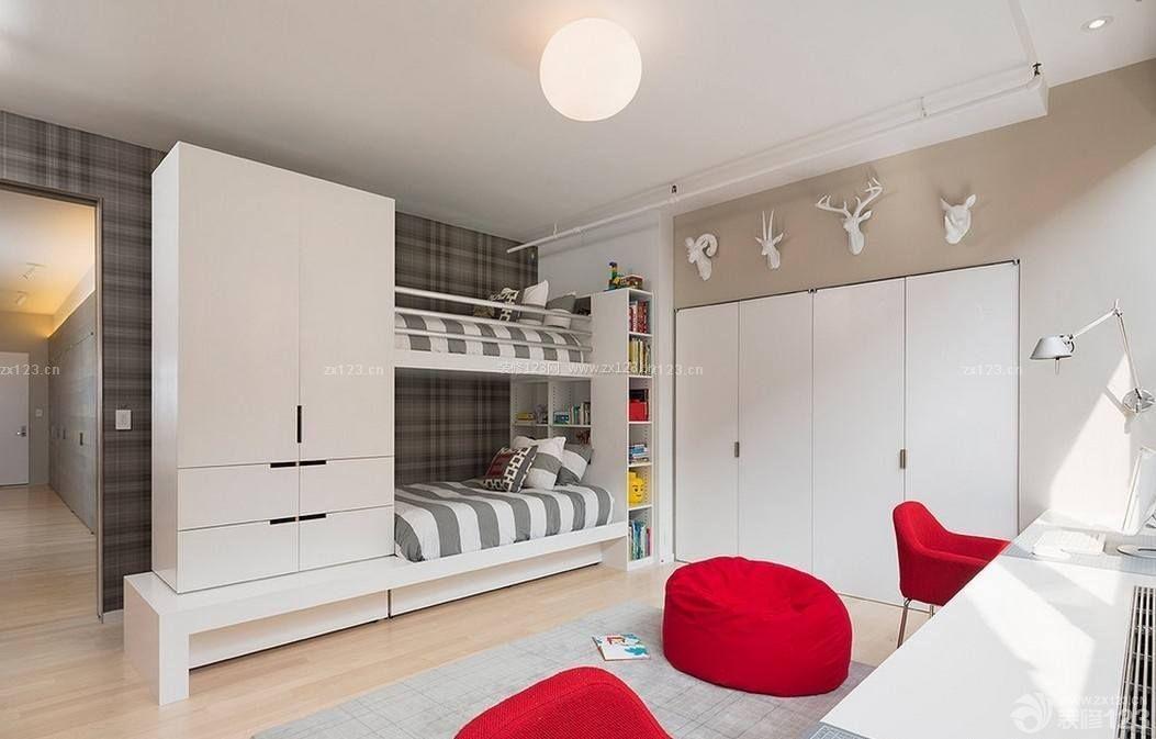 55平米两室一厅双人卧室小房间装饰图片图片