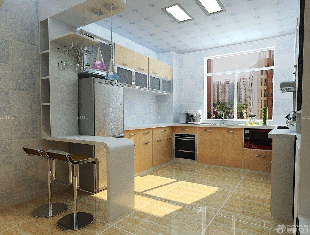 现代风格家庭厨房酒柜吧台装饰图片
