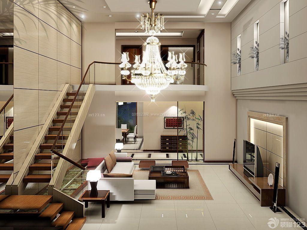 现代风格复式楼楼梯扶手设计图片欣赏图片