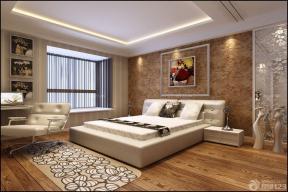 歐式室內裝潢 大臥室 床頭背景墻