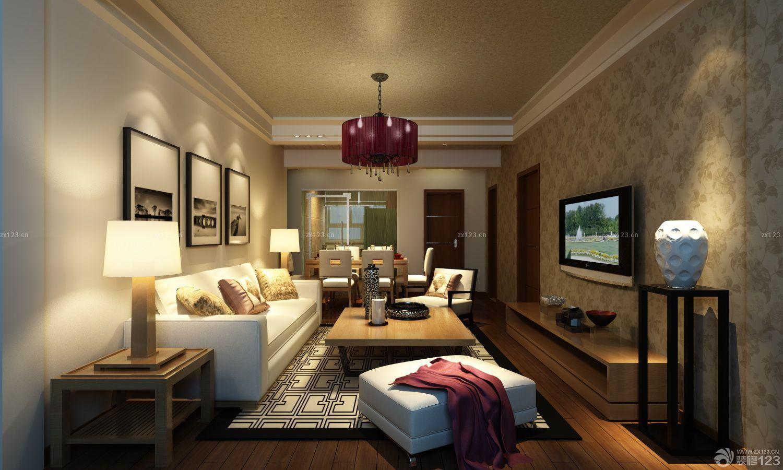 80平米房子客厅电视背景墙液体墙纸装修图