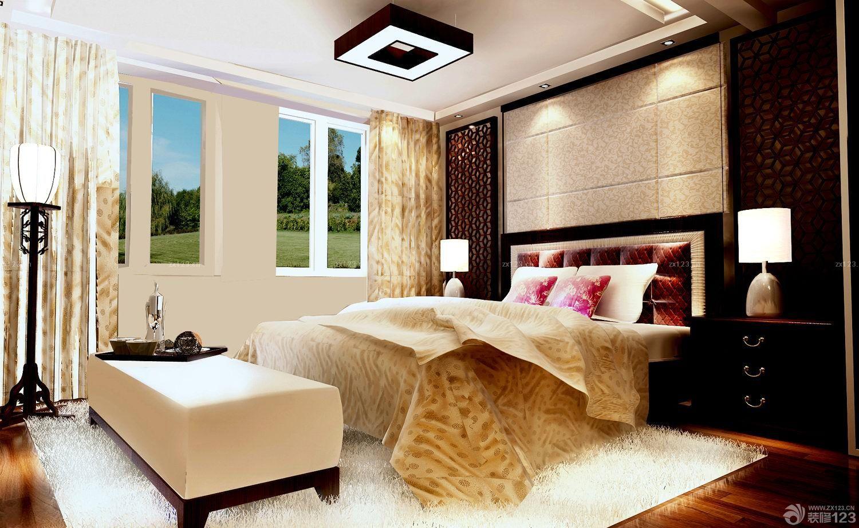 冷色调90平米房屋卧室装修效果图欣赏